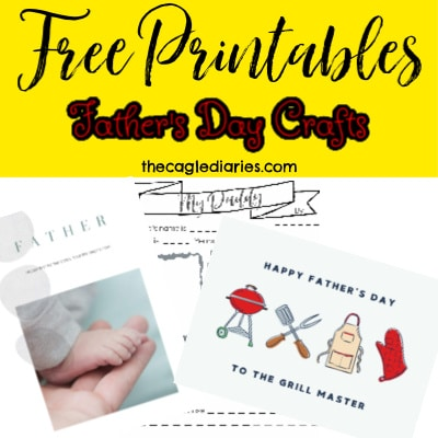 stack of printable images for father's day