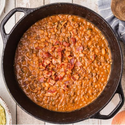 nice pot of baked beans