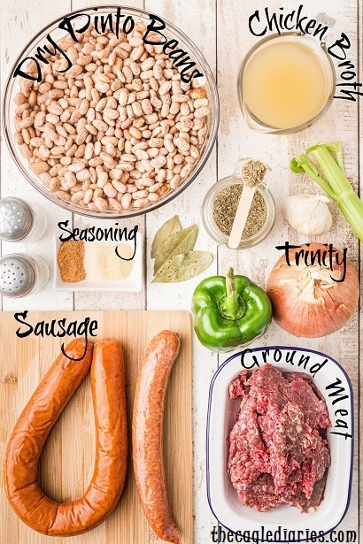 pinto beans recipe laid out
