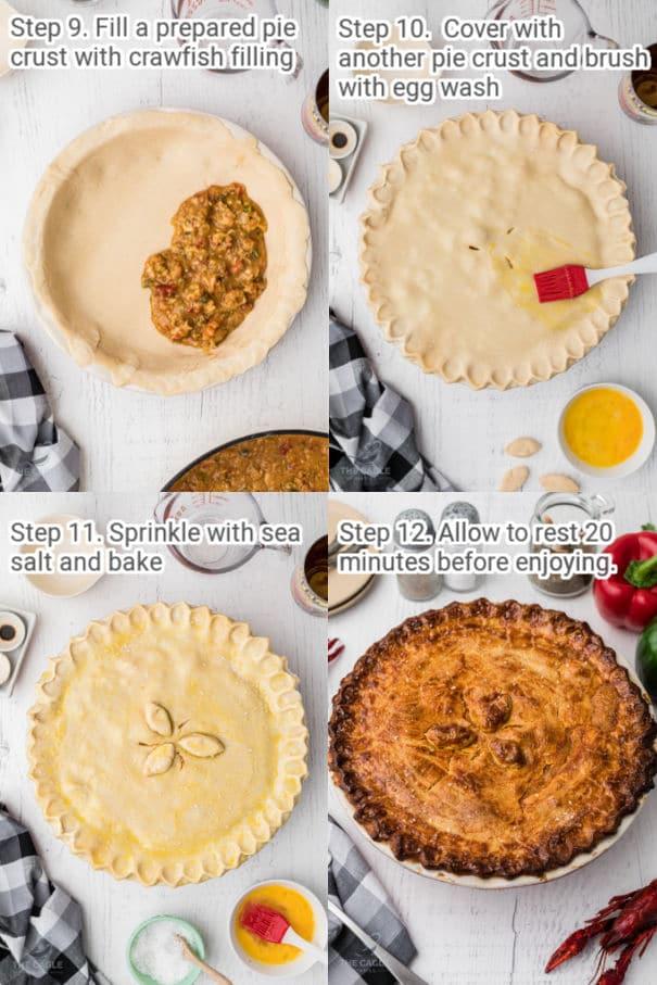 crawfish pie process shots 9 through 12