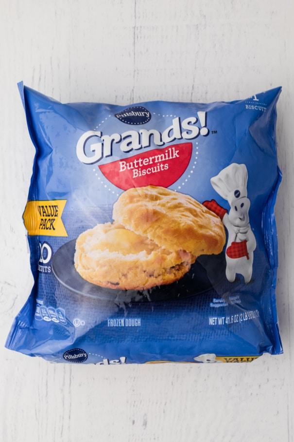 bag of frozen biscuits