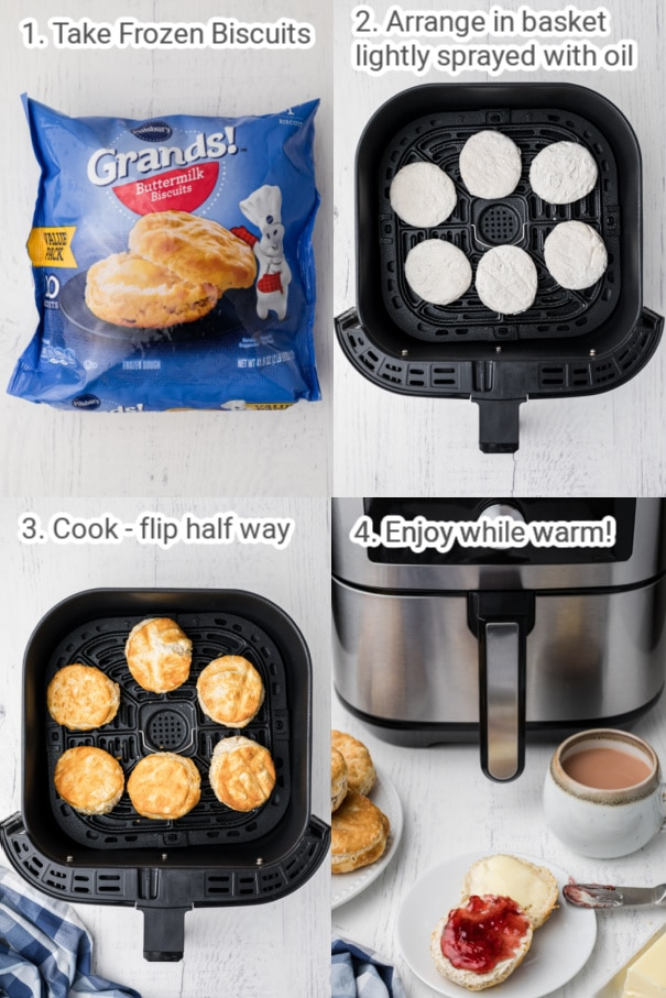instructions on cooking biscuits in the air fryer