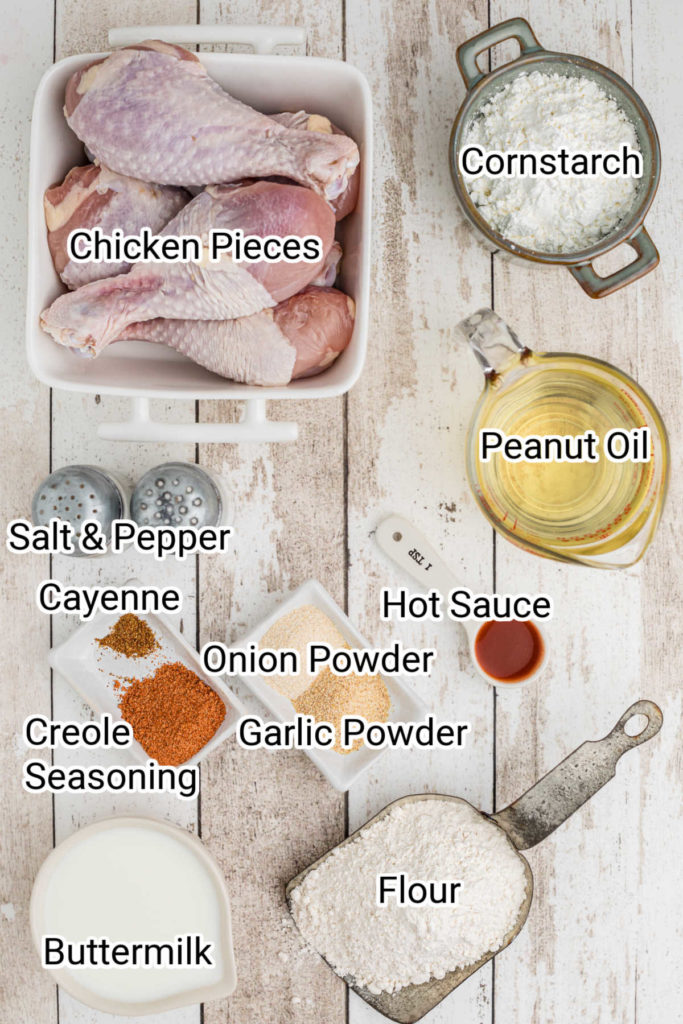 ingredients image for chicken and waffles