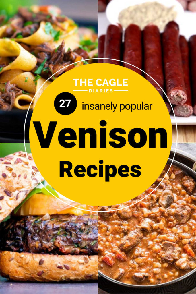 four venison recipes in a rotation, deer burger, venison stew, deer jerky sticks and venison ragu